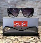 Ray-Ban Justin Sunglasses RB4165 601 / 8G 54mm nero opaco / lente sfumata grigia !!