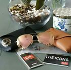 Ray-Ban RB3025 001 / Z2 58mm Lenti rosa pesca / cristallo specchiato / Compagno / montatura oro