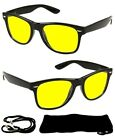 Nuovi occhiali da sole AVIATOR con lenti gialle UV 400 nere per la visione notturna