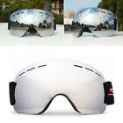 US Uomo Donna Maschera da sci Snowboard professionale Motoslitta su occhiali Anti Nebbia